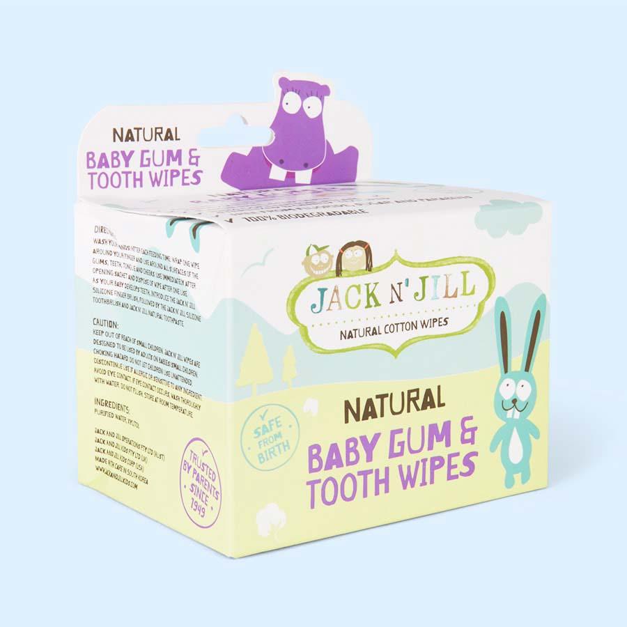 White JACK N' JILL Tooth & Gum Wipes
