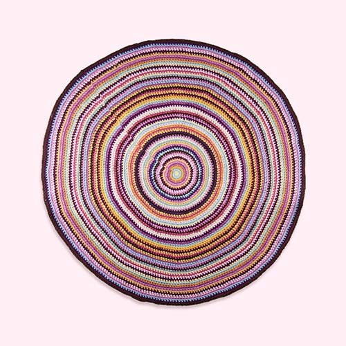 Purple Sebra Crochet Floor Mat