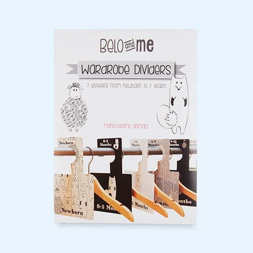 Monochrome Animals Belo & Me Wardrobe Dividers