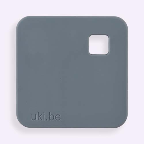 Grey uki.be Square Teether