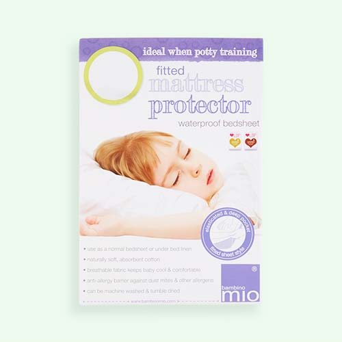 White Bambino Mio Waterproof Mattress Protector