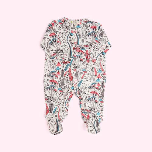 Pink Wilderness The Bonnie Mob Buddy Printed Sleepsuit