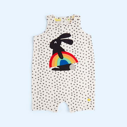 Rainbow Bunny The Bonnie Mob Curtis Sleeveless Romper