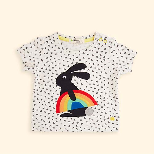 Rainbow Bunny Applique The Bonnie Mob Creedence Applique T-shirt