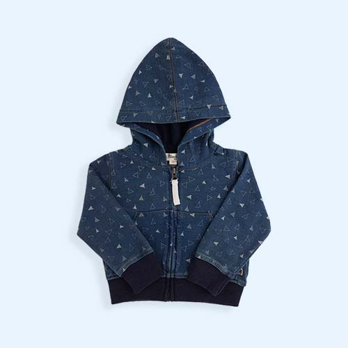 Denim Tee Pee Print The Bonnie Mob Franz Indigo Hoodie