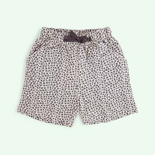 Grey Bunny Leopard Print The Bonnie Mob Jagger Printed Shorts