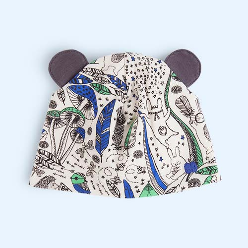 Blue Wildness The Bonnie Mob Bopper Printed Hat with Ears
