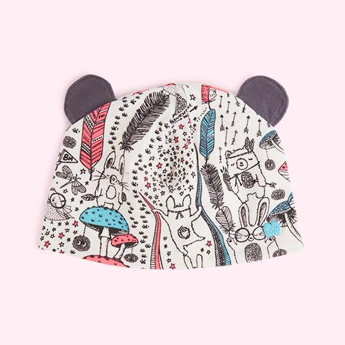 Pink Wildness The Bonnie Mob Bopper Printed Hat with Ears