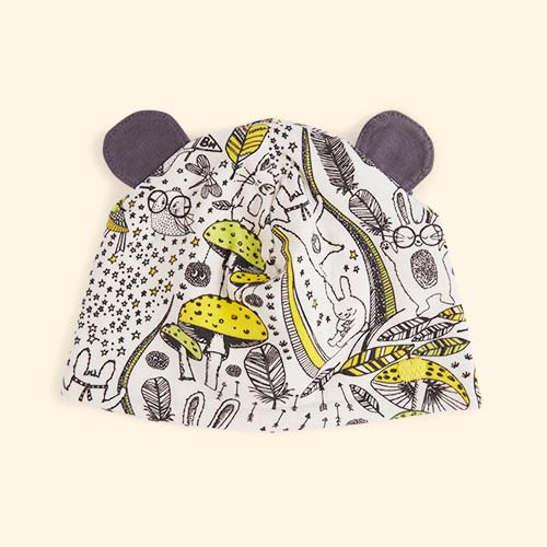Yellow Wildness The Bonnie Mob Bopper Printed Hat with Ears