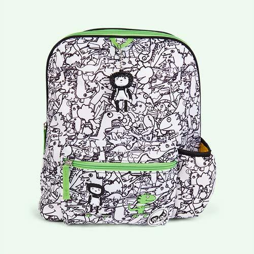 Dino Black & White Babymel Kids Backpack