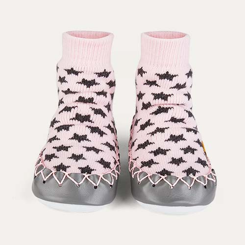 Cool in Pink Moccis Moccasin Slipper Socks