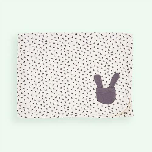 Grey Bunny The Bonnie Mob Bruno Organic Cotton Blanket
