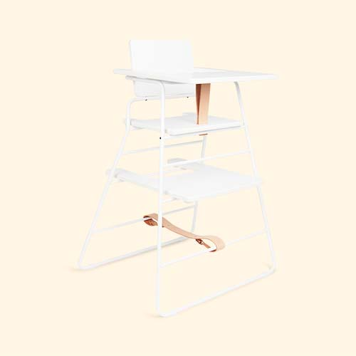 White & Brown BudtzBendix Tower Chair and Tray