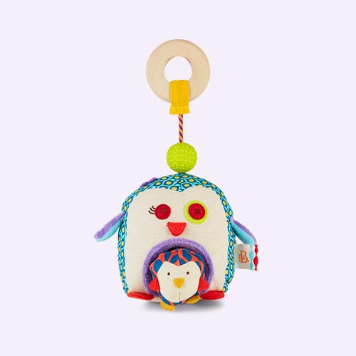 Multi B. Toys Penguin-Whee Rattle Toy