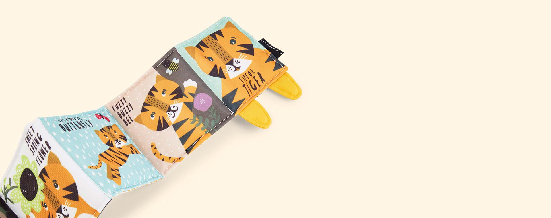 Tiger Wee Gallery Animal Soft Cloth Book