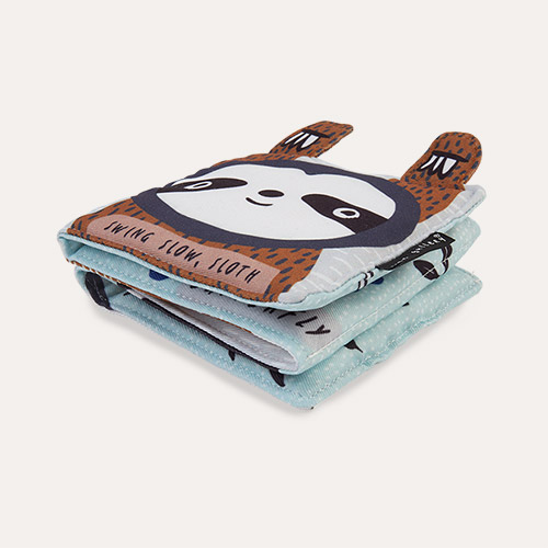 Swing, Slow, Sloth Wee Gallery Animal Soft Cloth Book
