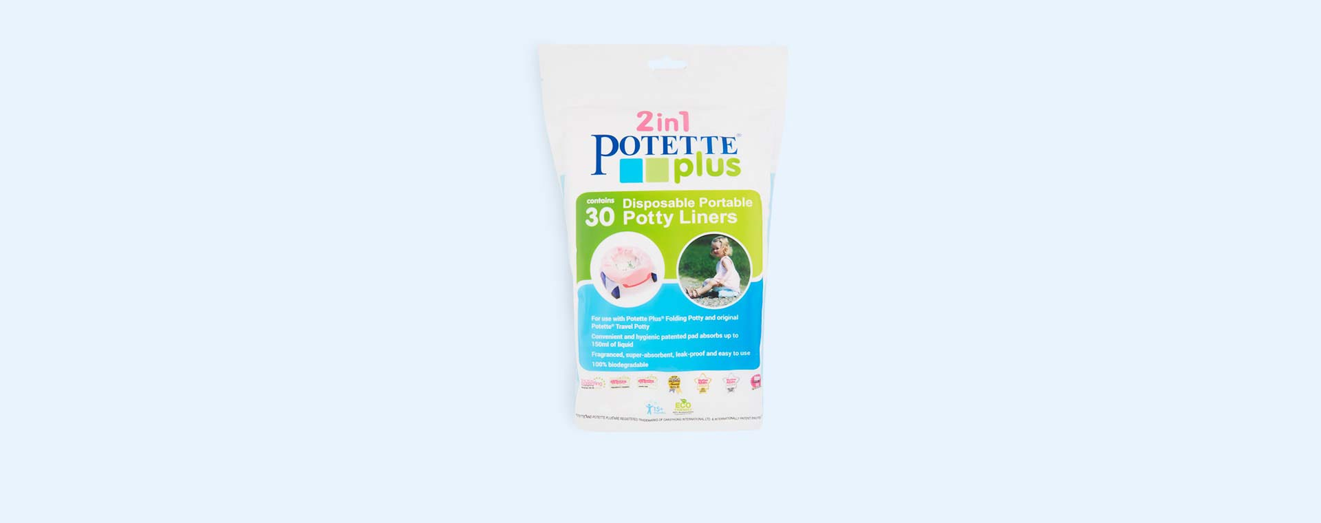 White Potette Disposable Potty Liners