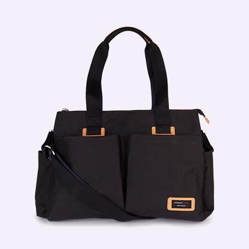 Black Storksak Travel Shoulder Bag