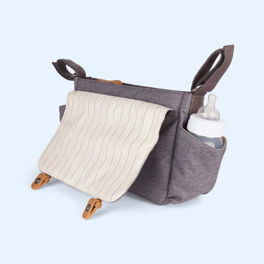 Grey Storksak Travel Stroller Organiser