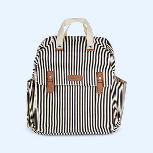 Navy Stripe Babymel Robyn Convertible Backpack