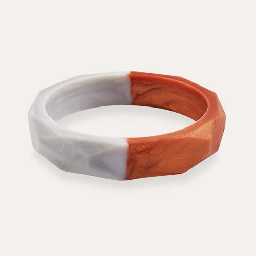 Rose Gold Marble Mama+Belle Amelia Teething Bangle