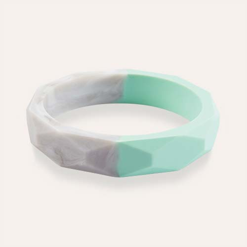 Mint Marble Mama+Belle Amelia Teething Bangle