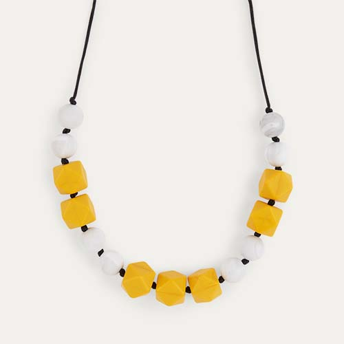 Mustard Marble Mama+Belle Delilah Teething Necklace