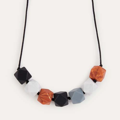 Onyx Mama+Belle Aurora Teething Necklace