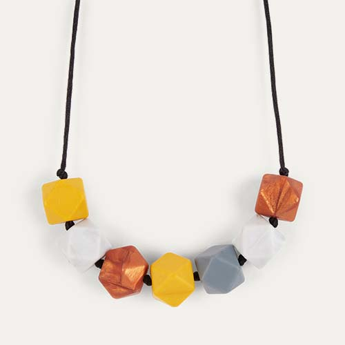 Mustard Mama+Belle Aurora Teething Necklace