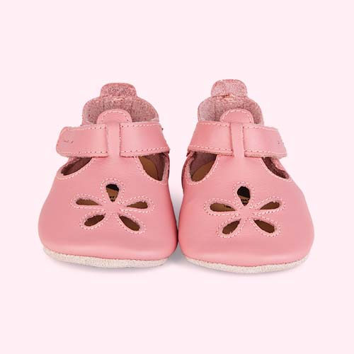 Pink Bobux Flower Soft Sole Sandal
