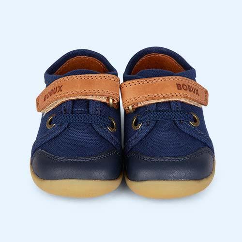 Navy with Caramel Bobux Step Up Leisure Shoe