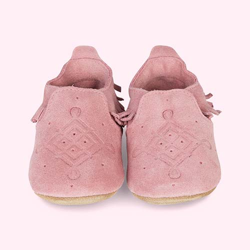 Rose Bobux Suede Mocassin Soft Sole