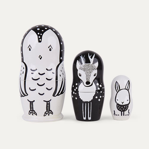 Woodland Creatures Wee Gallery Nesting Dolls