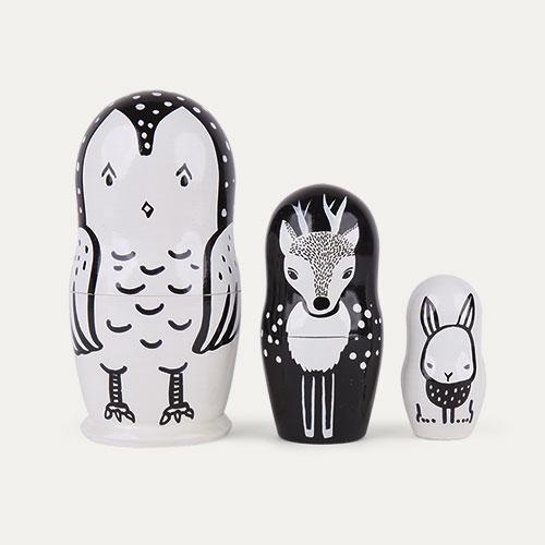 Woodland Creatures Wee Gallery Nesting Dolls
