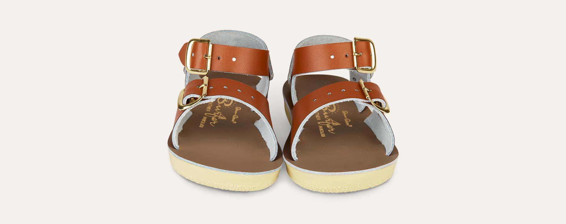 Tan Salt-Water Sandals Surfer Sandal