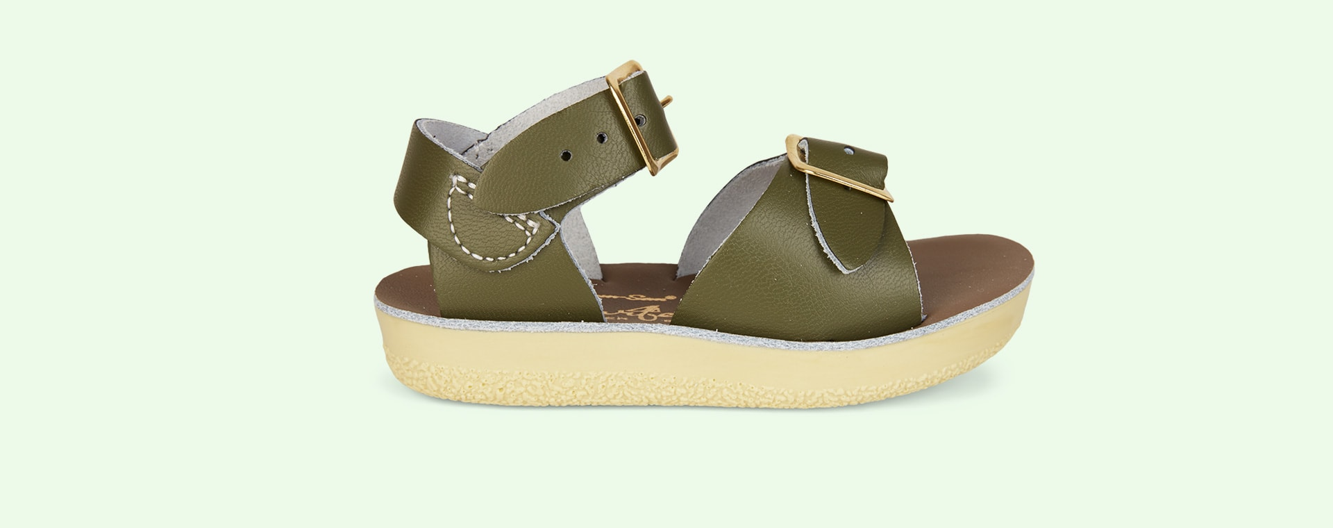 Olive Salt-Water Sandals Surfer Sandal