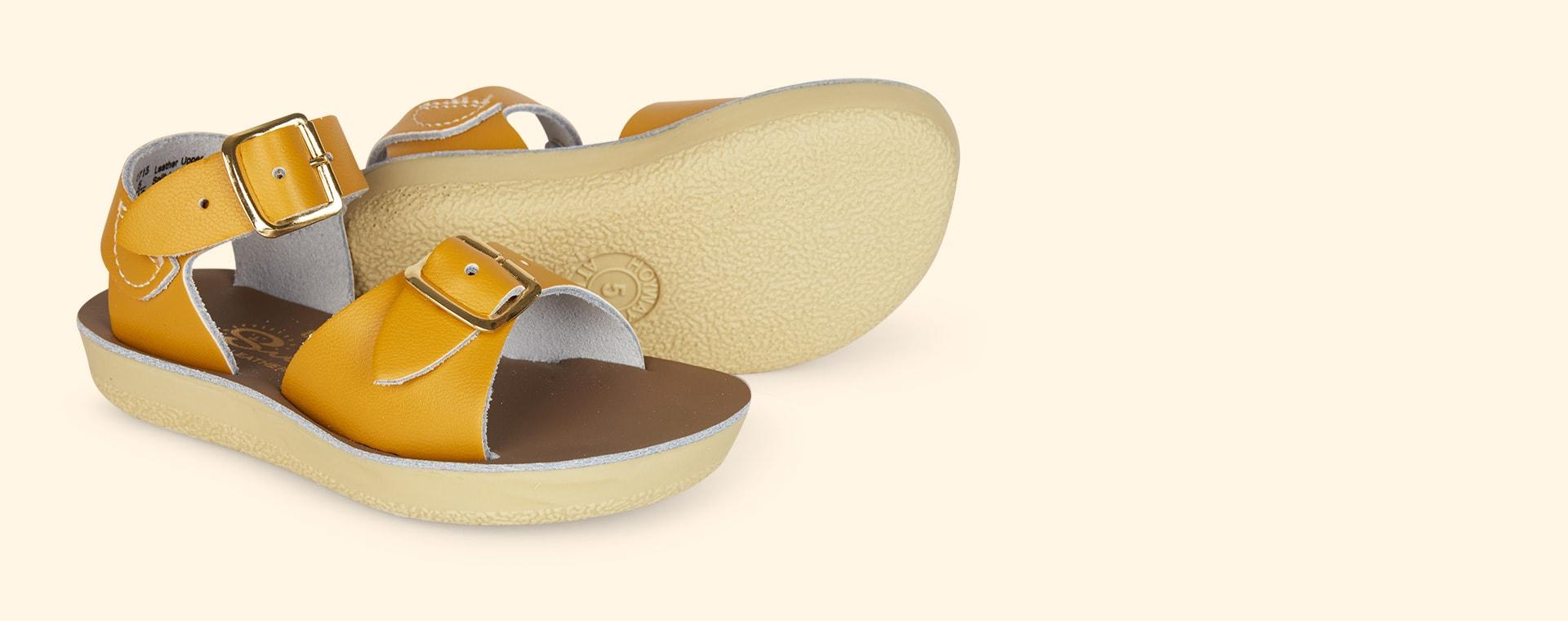 Mustard Salt-Water Sandals Surfer Sandal