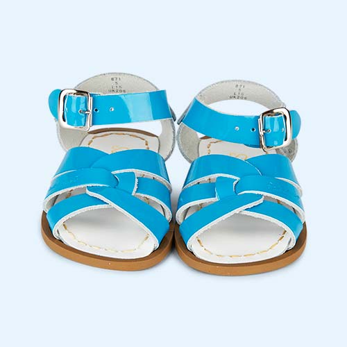 Shiny Turquoise Salt-Water Sandals The Original Salt Water Sandal