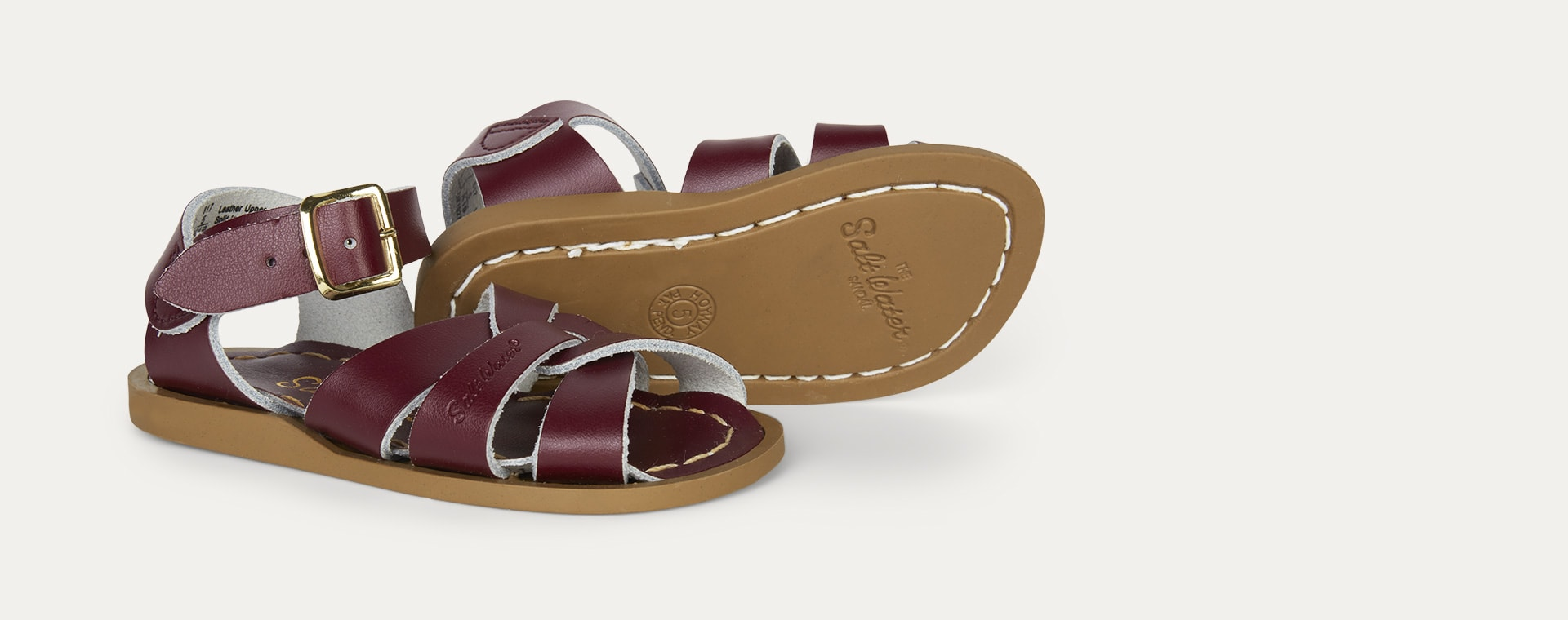 Claret Salt-Water Sandals The Original Salt Water Sandal