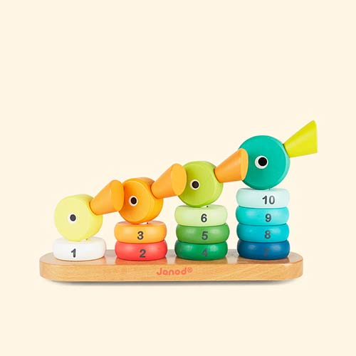 Multi Janod Wooden Duck Family Stacker