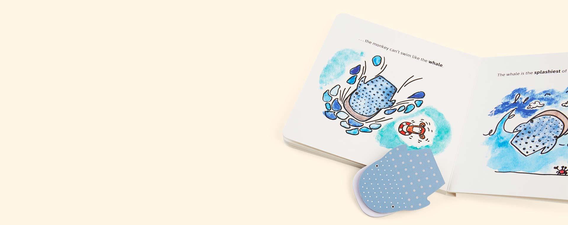 White Owl & Dog Playbooks Flat Zoo Board Book