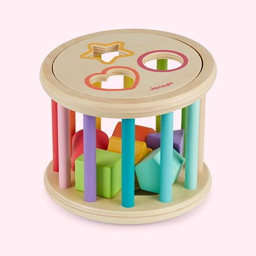 Multi Janod Wooden Shape Sorter Drum