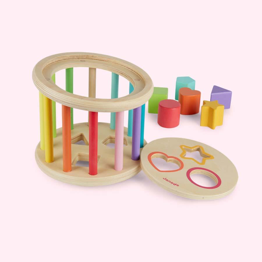 Multi Janod Wooden Shape Sorter Drum