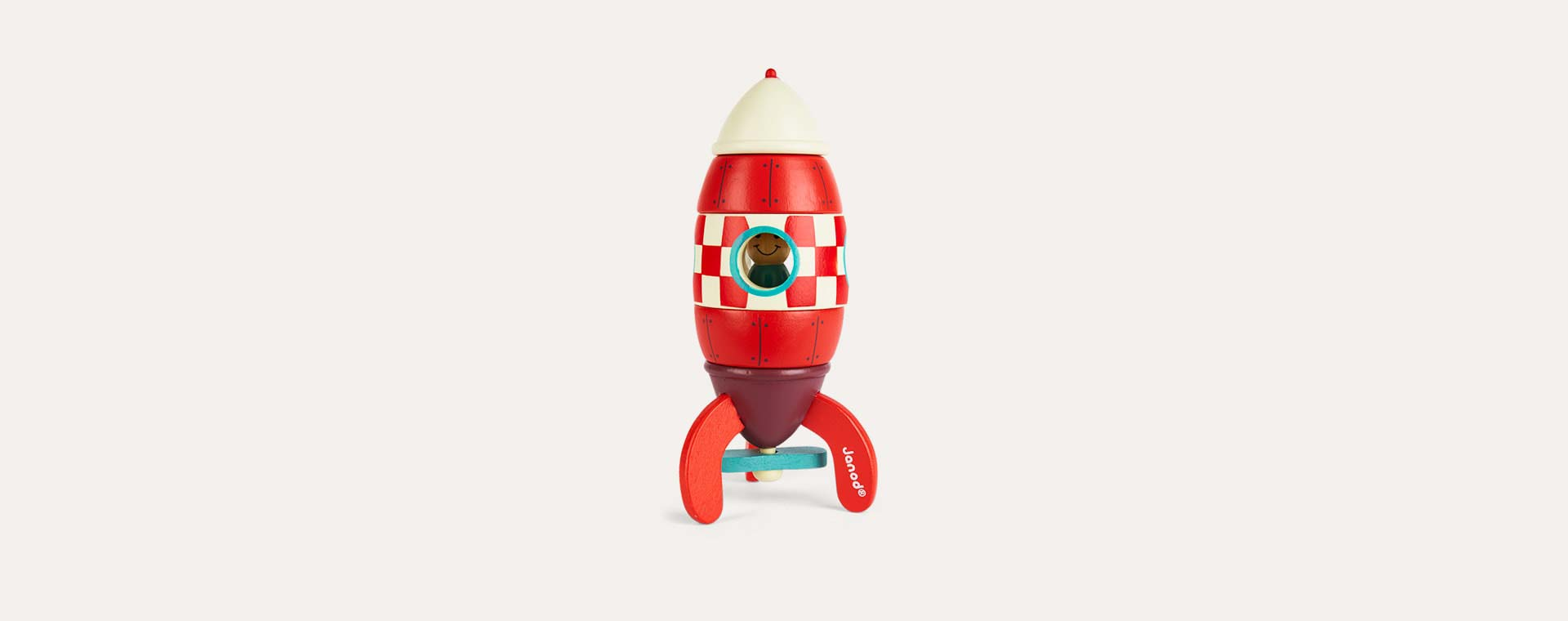 Red Janod Small Magnetic Rocket Toy