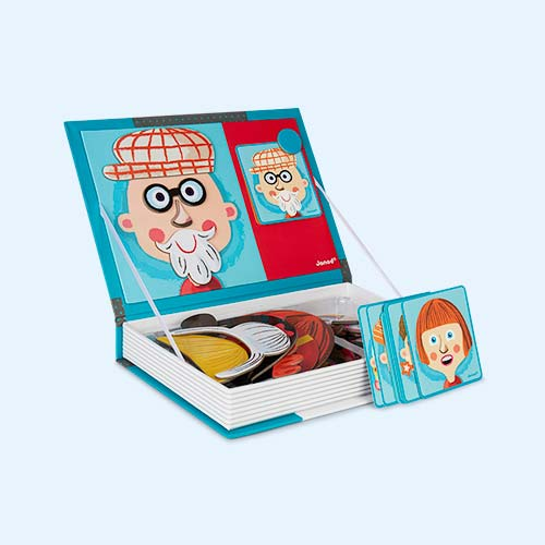 Crazy Face Janod Magnetibook Educational Toy