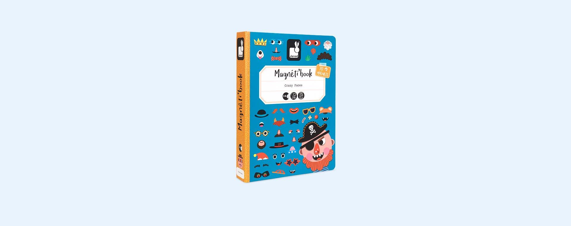 Boys Crazy Faces Janod Magnetibook Educational Toy