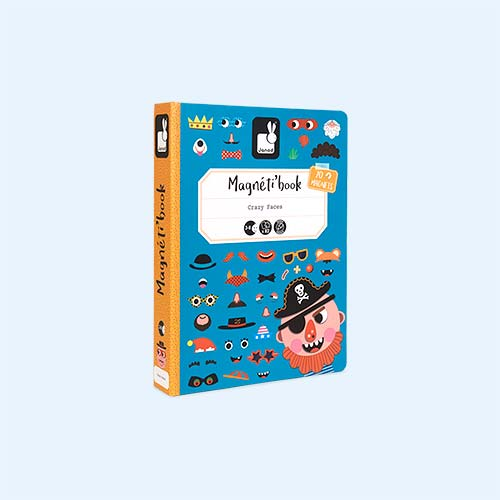 Boys Crazy Faces Janod Magnetibook Educational Toy