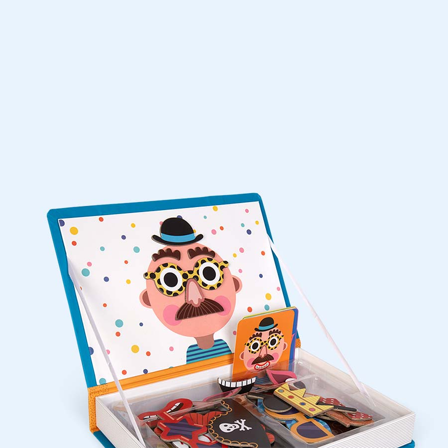 Crazy Faces Janod Magnetibook Educational Toy