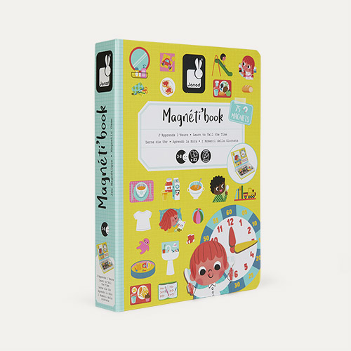 Learn To Tell The Time Janod Magnetibook Educational Toy
