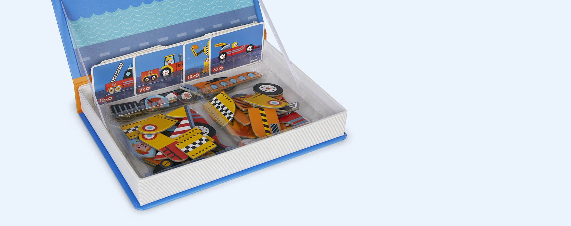 Racers Janod Magnetibook Educational Toy